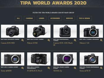 2020年度TIPA攝影器材大獎獲獎結果公布
