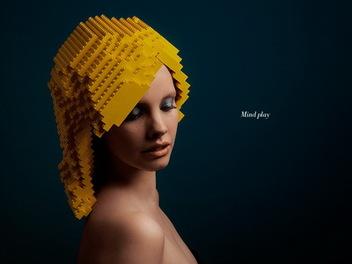 創意設計 - 樂高也能當假髮!?