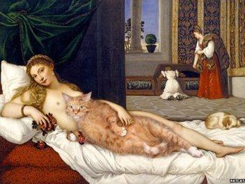 後製 神作: 肥貓 穿越 名畫 中, Svetlana Petrova 的 喵斯 女神