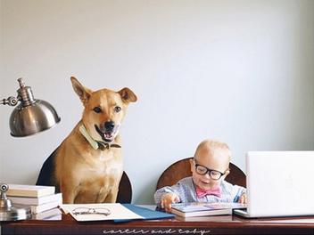 Carter and Toby ,看孩子與寵物間的溫馨情誼