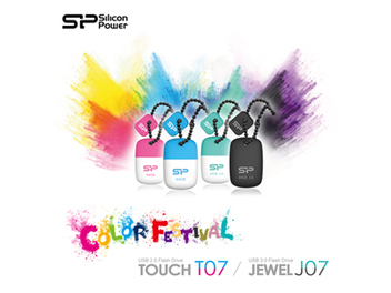 SP廣穎電通推出Touch T07 & Jewel J07超迷你防掉蓋隨身碟 繽紛活力 玩轉奔放魅力