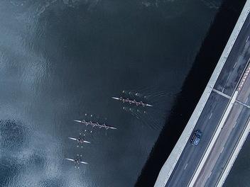 空拍香港 ,用俯視的角度看 東方明珠