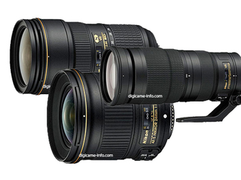 Nikon近日即將發表24mm F1.8G ED、24-70mm F2.8E ED VR、200-500mm F5.6E ED VR三顆新鏡?