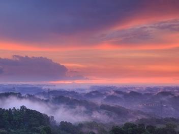 新竹 攝影 私房 景點 分享:北埔日落亭 練黑卡