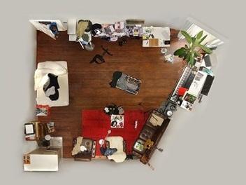 平面化的拍攝效果,攝影師教你拍攝有趣的房間肖像