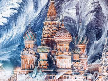 夢幻雪景與聖誕燈飾交織下的浪漫莫斯科