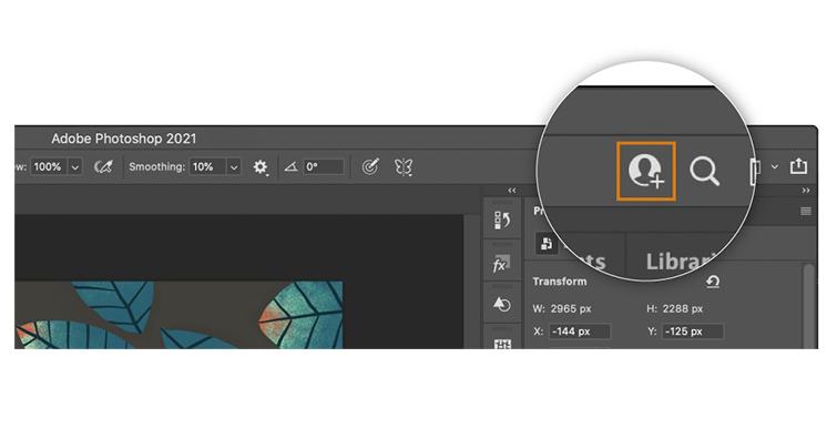 Adobe 推出適用於 Photoshop、Illustrator 及 Fresco 的檔案共同作業功能