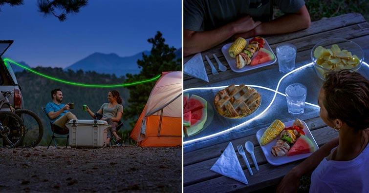 【戶外野趣】Niteize RADIANT可充電式LED燈帶,露營野營氛圍營造必備