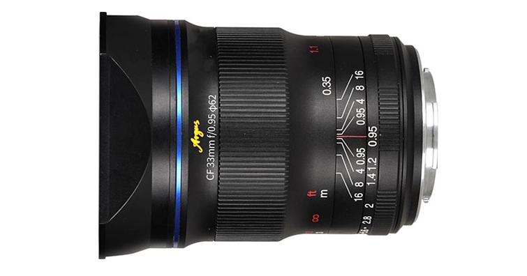 老蛙CF Argus 33mm F0.95 APO大光圈鏡頭4月底發售,建議售價約NT$ 13,500
