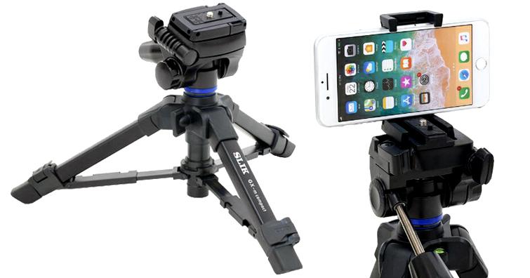 手機攝錄超方便,SLIK GX-m compact三向小腳架發佈,建議售價約NT$ 1,850