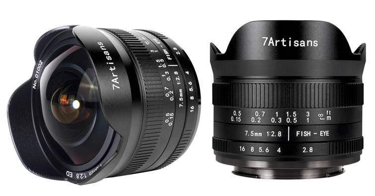 7Artisans 7.5mm F2.8 FISH-EYE II ED魚眼鏡頭發佈,建議售價約NT$ 5,500