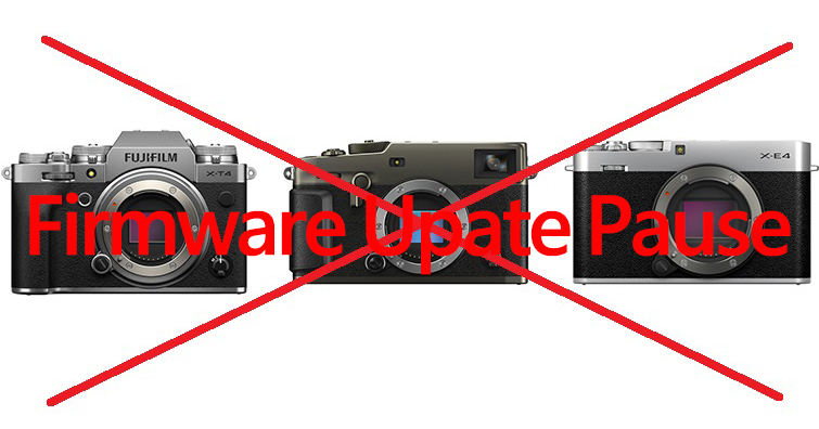 富士宣布暫時停止X-T4∕X-Pro3∕X-E4的最新韌體更新!待修復後將重新開放下載
